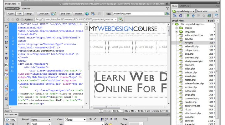 What to Look For in a Web Design Program